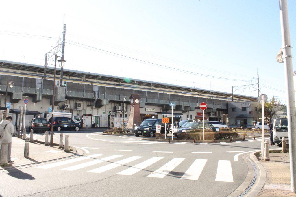 下総中山駅ロータリーの風景