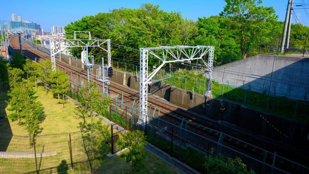 船橋 坪井 線路の写真
